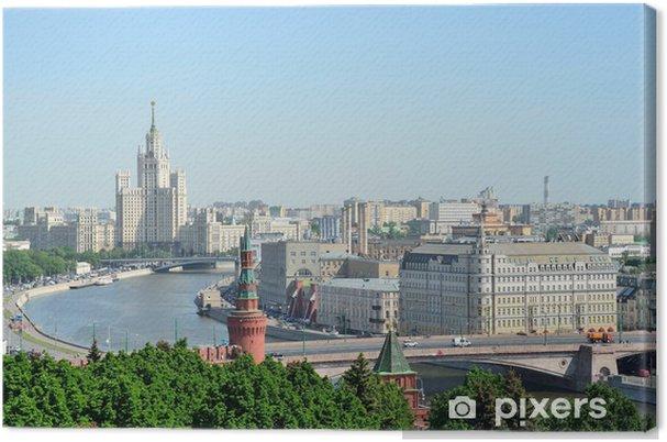 Leinwandbild Панорама Москвы - Asiatische Städte