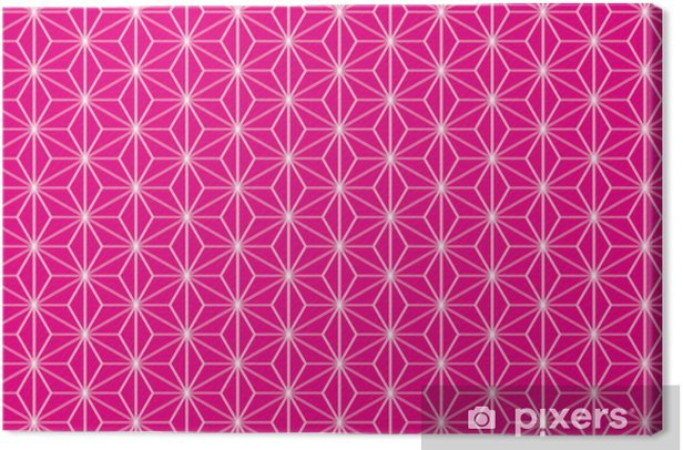 Leinwandbild 背景 素材 壁紙 (伝 統 文 様, 和風 の 模 様, 麻 の 葉, 日本 風,) - Hintergründe