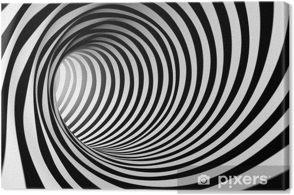 8330b147228eb Leinwandbild 3d abstrakt Spirale Hintergrund in schwarz und weiß - Stile
