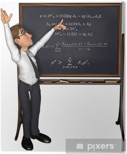 Leinwandbild 3d unterricht cartoon - Wandtattoo