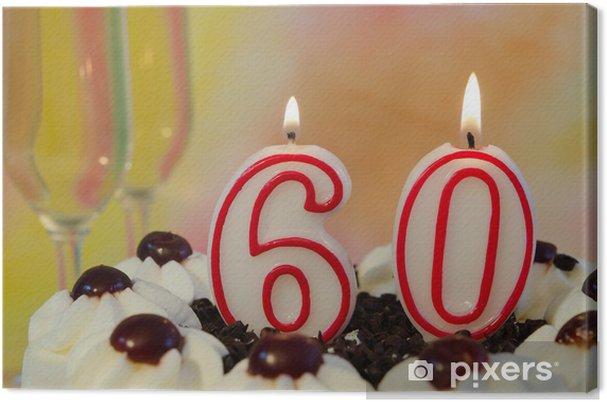 Leinwandbild 60. Geburtstag - Feste