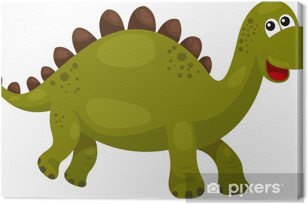 Leinwandbild Abbildung der Dinosaurier Stegosaurus - Dino - Fabelwesen