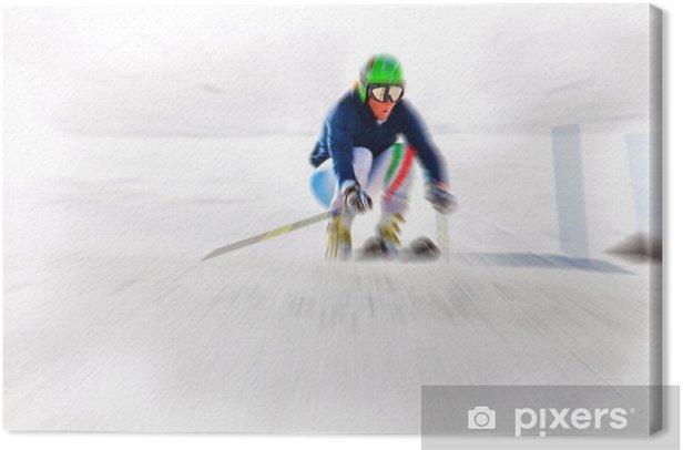 Leinwandbild Abfahrt - Ski - Einzelsportarten