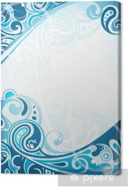 Leinwandbild Abstract Blue Curve Background - Hintergründe