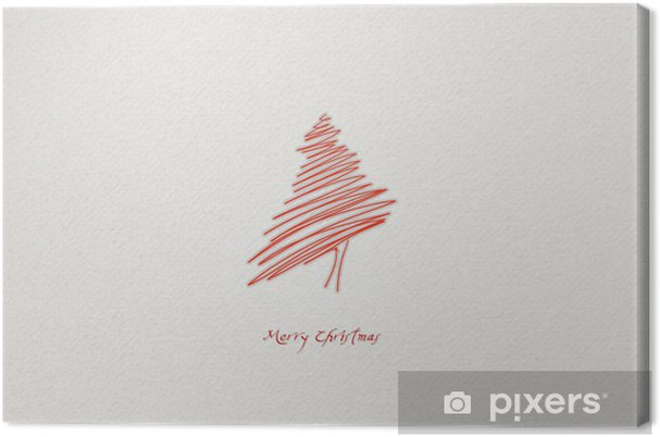 Leinwandbild Abstract Christmas Tree - Internationale Feste