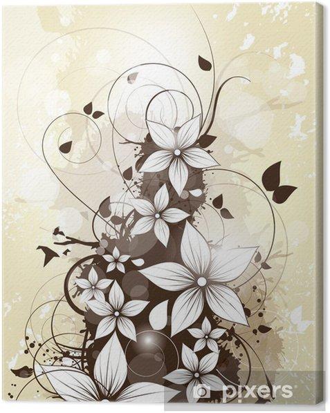 Leinwandbild Abstract floral Frühjahr Hintergrund mit Blumen und wirbelt - Nationale Ereignisse