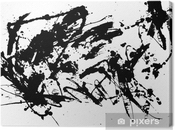 Leinwandbild Abstract Zen Ink Painting Grafik