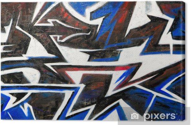 Leinwandbild Abstrakt Graffiti Hintergrund - Sonstige