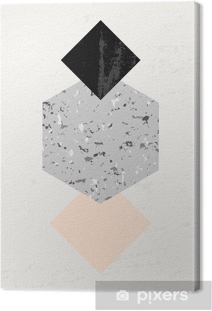 Leinwandbild Abstrakte geometrische Komposition - Grafische Elemente