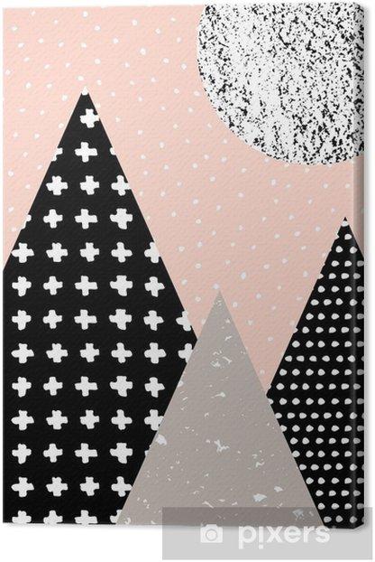 Leinwandbild Abstrakte geometrische Landschaft - Grafische Elemente