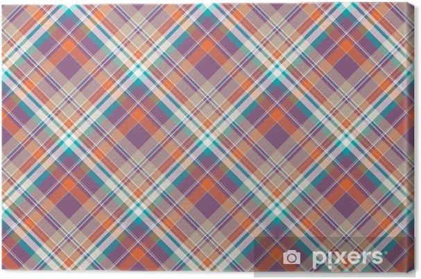 Leinwandbild Abstrakte Karo Plaid Baumwolle Textur Nahtlose Muster