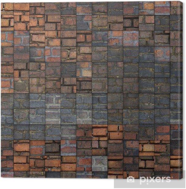 Leinwandbild Abstrakte Mosaik-Fliesen Grunge-Ziegel-Muster - Denkmäler