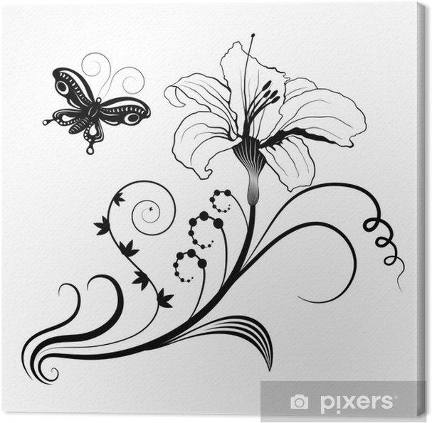 Leinwandbild Abstrakten floralen Design - Blumen