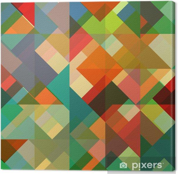 Retro Farben.Leinwandbild Abstrakten Geometrischen Hintergrund Mit Stilvollen Retro Farben
