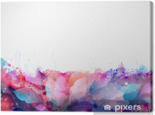 Leinwandbild Abstrakten Hintergrund bilden von Blots und Design-Elemente - Bereich