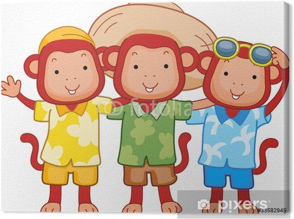 Leinwandbild Affe Freunde - Säugetiere