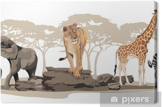 Leinwandbild Afrikanische Tiere - Wandtattoo