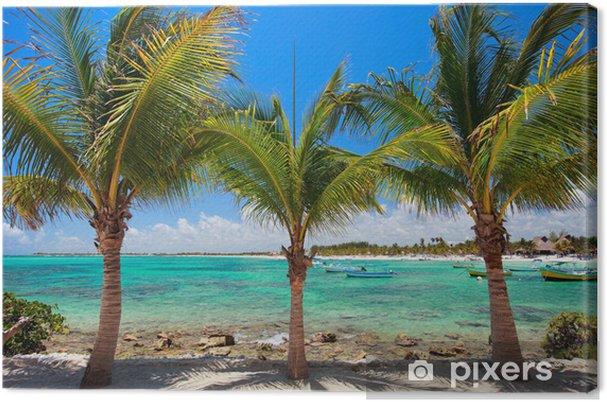 Leinwandbild Akumal Strand in Mexiko - Wasser