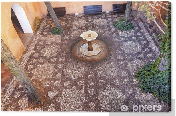 Leinwandbild Alhambra Mosaic Fountain Garden Granada Andalusien Spanien - Denkmäler