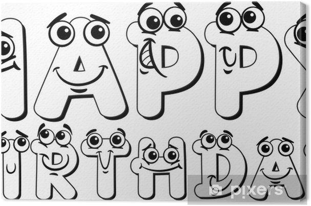 Leinwandbild Alles Gute Zum Geburtstag Zeichen Malvorlagen Pixers