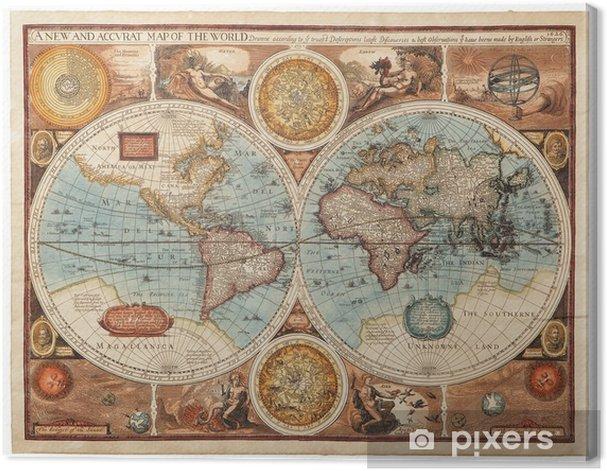Leinwandbild Alte Karte (1626) -