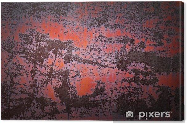 Leinwandbild Alte rostige Metall Hintergrund Textur. - Texturen