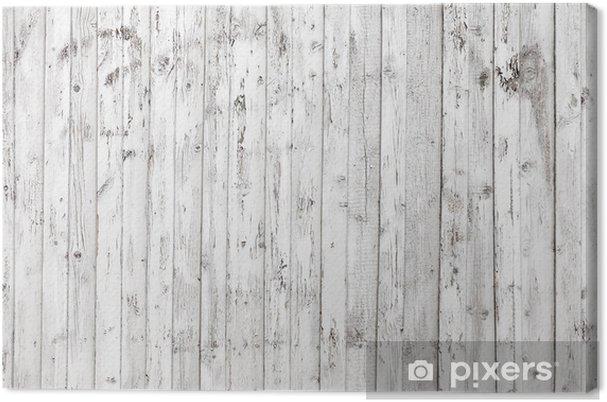 Leinwandbild Alte Weisse Holzwand Hintergrundfoto Textur Pixers