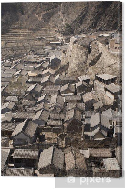 Leinwandbild Alten chinesischen Dorf - Asien