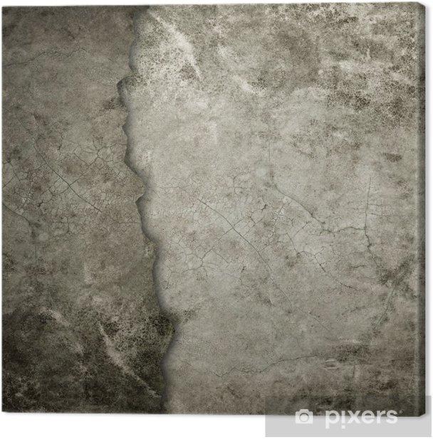 Leinwandbild Alten Grunge-Wand - Themen