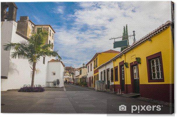 Leinwandbild Alten historischen Stadtzentrum von Funchal, Madeira, Portugal. - Stadt