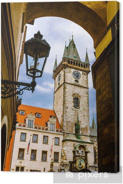 Leinwandbild Altes Rathaus, Stare Mesto, Prag - Stadt