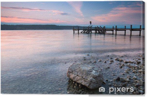 Leinwandbild Am Ufer des Sees - Wasser