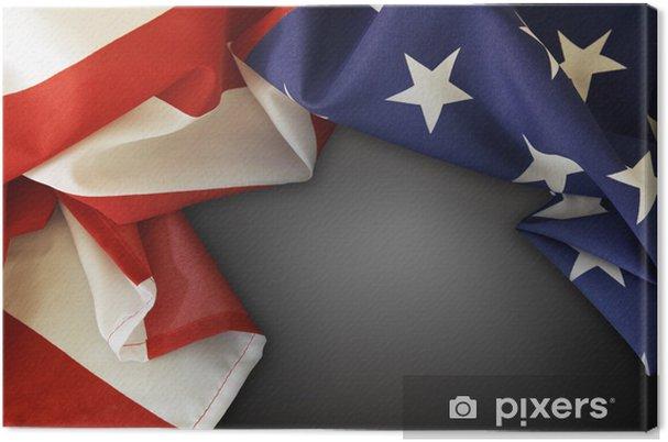 Leinwandbild American flag - Zeichen und Symbole