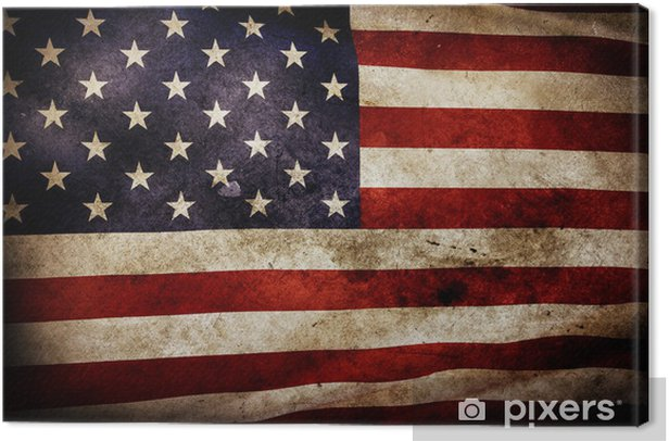 Leinwandbild American flag - Themen