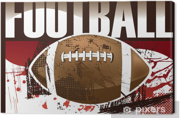 Leinwandbild American Football Poster - Sportartikel