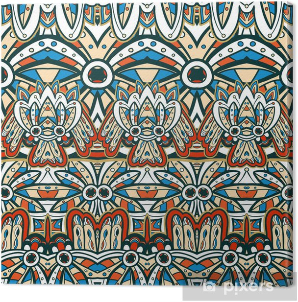 Leinwandbild American Indian nahtlose Muster - Stile
