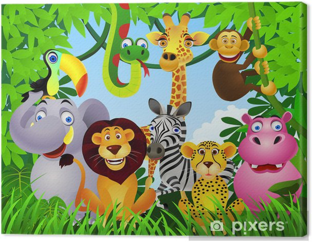 Leinwandbild Animal cartoon - Für Kindergartenkind