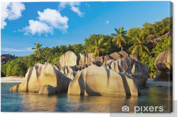 Leinwandbild Anse Source d'Argent, La Digue, Seychellen - Urlaub