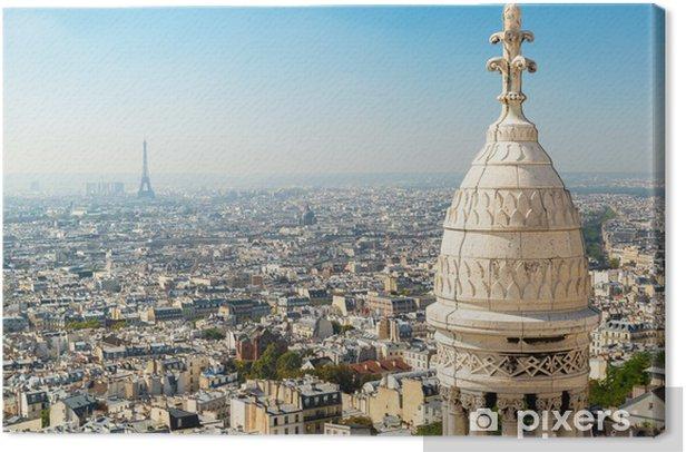 Leinwandbild Ansicht von Paris vom Sacre Coeur - Stadt