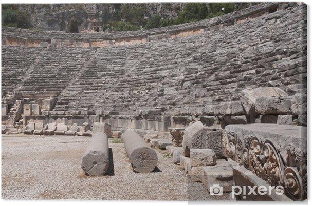 Leinwandbild Antike Amphitheater von Myra (Türkei) - Europa