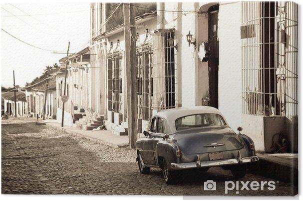 Leinwandbild Antikes Auto, Trinidad - Themen