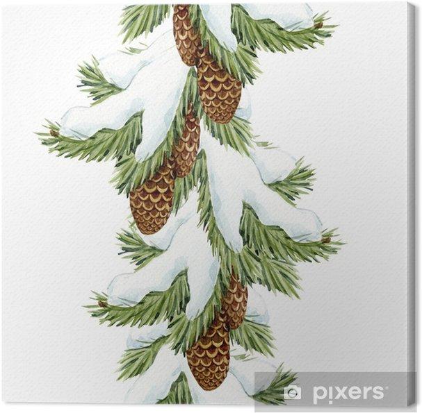 Tannenbaum Muster.Leinwandbild Aquarell Tannenbaum Weihnachten Muster