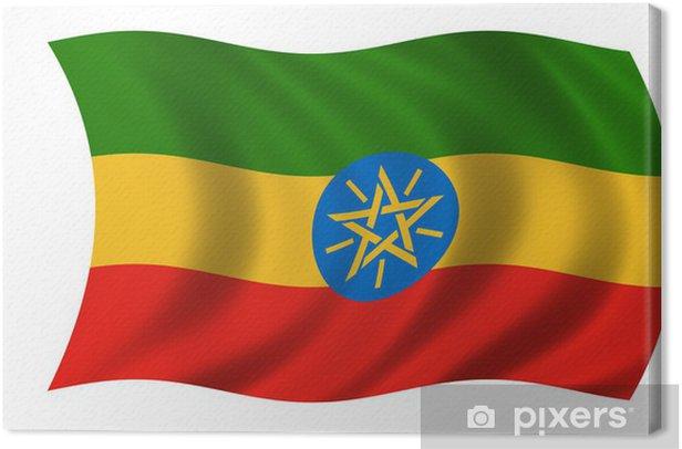 Leinwandbild Äthiopien fahne Äthiopien-Flagge - Afrika