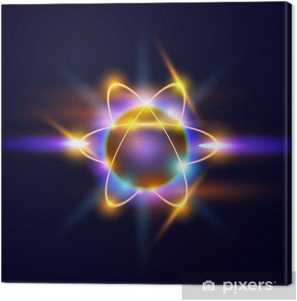 Leinwandbild Atom - Naturwissenschaften