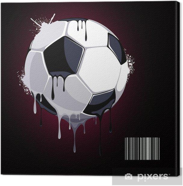 Leinwandbild Aus dem Fußball tropfender Farbe - Hintergründe