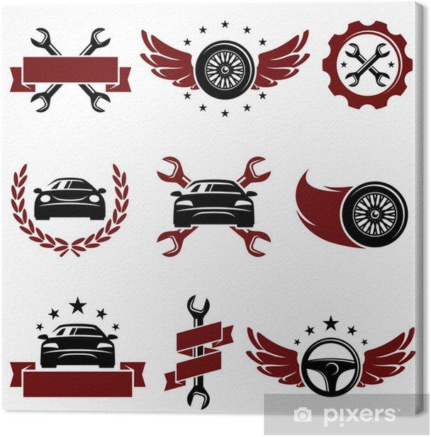Leinwandbild Auto-Service-Set. Vektor - Straßenverkehr