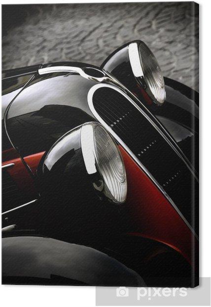 Leinwandbild Auto vintage - Texturen