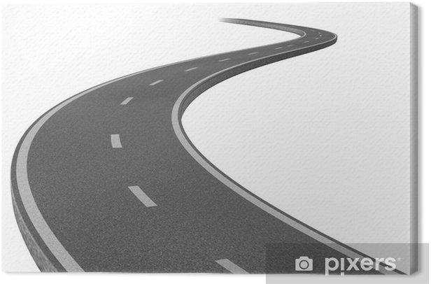 Leinwandbild Autobahn zu einem Ziel - Straßenverkehr