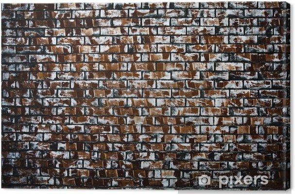 Leinwandbild Backsteinmauer Hintergründe - Leben