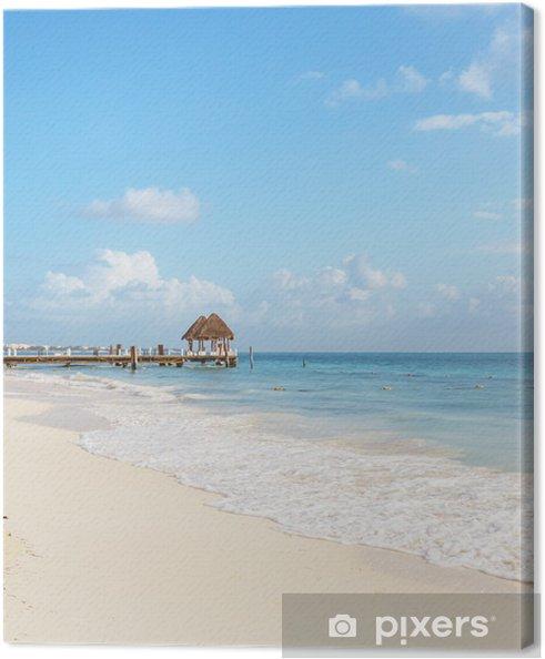 Leinwandbild Badestrand - Urlaub